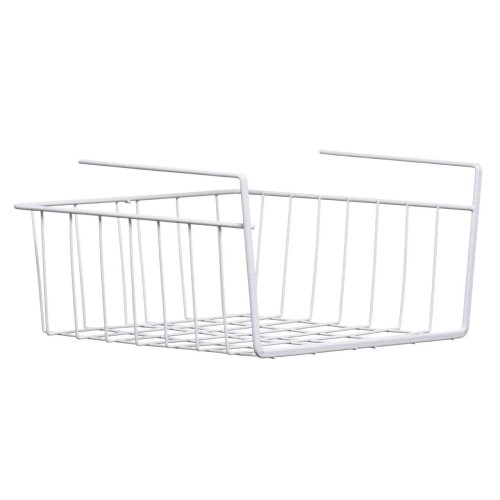 Under Shelf Storage Basket, White