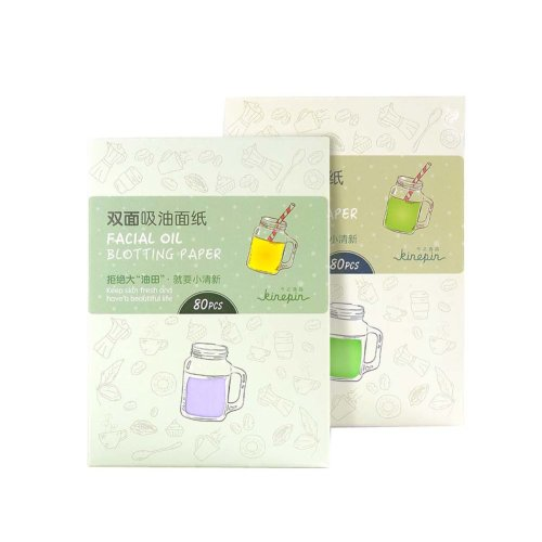 Portable Natural Face Oil Absorbing Paper 320 Sheets, GREEN