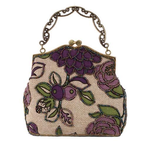 Women's Vintage Style Clutch Evening Bag Elegant  Luxurious Handbag Purse-Banquet-Cocktail Party,F