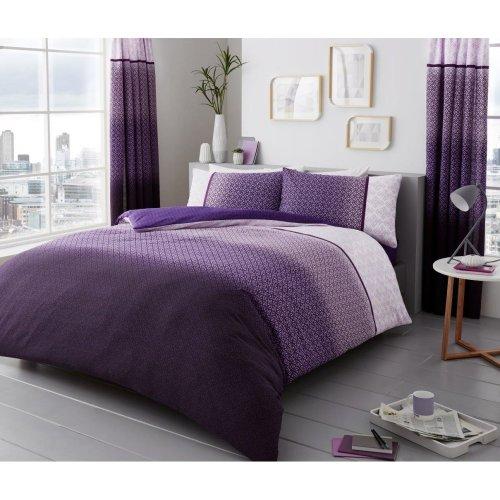 Urban Ombre purple cotton blend duvet cover