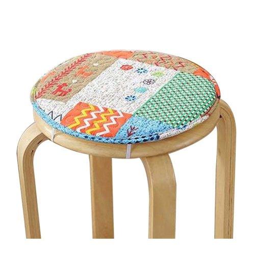 [E] Soft Round Stool Cover Bar Stool Seat Pad