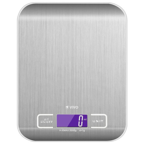 [SS1] Portable Compact Slim Stainless Steel Kitchen Scales Large Digital LCD Easy Read