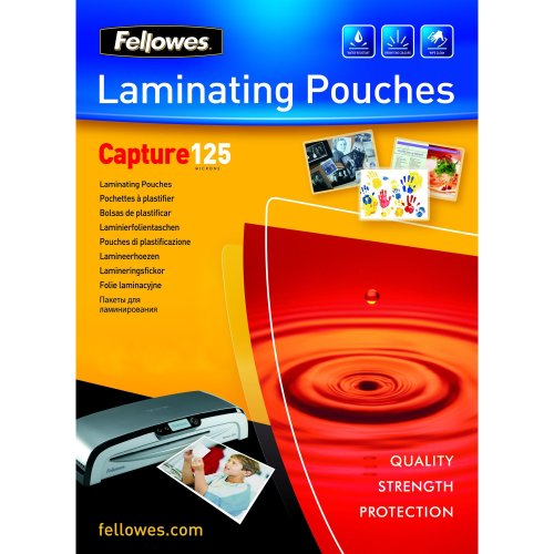 Fellowes ImageLast A4 125 Micron Laminating Pouch - 100 pack laminator pouch