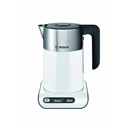 Bosch TWK8631GB Styline Collection Kettle, 1.5 L - White/Silver