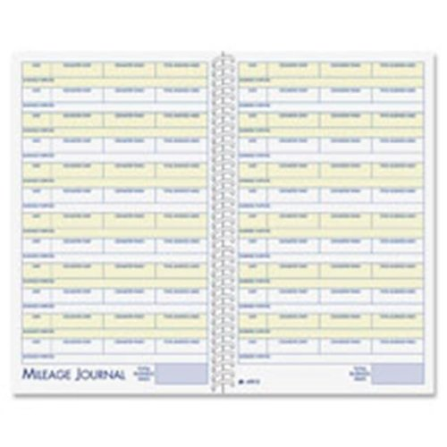 Adams ABFAFR12 Vehicle Mileage-Expense Jrnl, with Pckts,5.25 in. x 8.5 in.,64 Pg,WE
