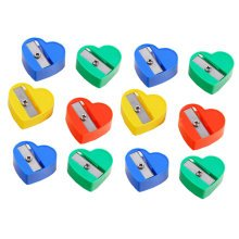 Pack of 33-School Smart Hand Held Plastic Pencil Sharpener-Assorted Colors ,Love