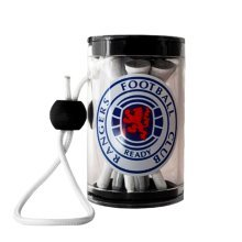 Rangers F.c Official Golf Tee Shaker With Tees Rrp£7 - Football Fc Gift Golfing -  shaker rangers tee golf official football fc tees gift golfing