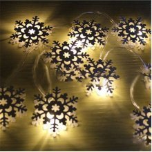 KCASA KT-12 Halloween Decorated Snowflake Metal Lights 2 Meter 20 Lights
