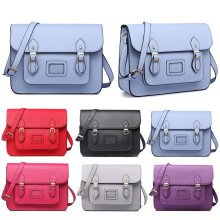 Miss Lulu School Bag Cross Body Messenger Shoulder Satchel PU Leather