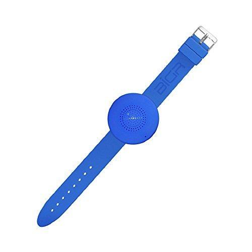 BiGR Audio XLWB04 WRiSTBOOM Wearable Wireless Bluetooth Speaker with Built In Mic Blue