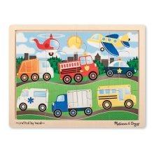 Melissa & Doug Vehicles Jigsaw (12 Pieces)