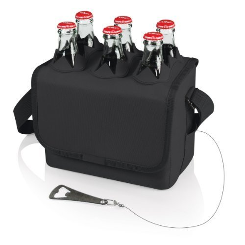 LEGACY a Picnic Time Brand Six Porter Insulated Beverage Tote Black