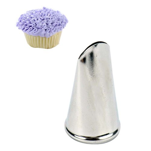 New Set of 5 Stainless Steel Pastry Tube Cake Decorating Piping Tips, #008