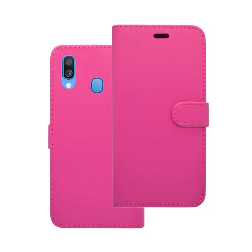 Samsung Galaxy A40 2019 Wallet Flip Stand Card Slot Case In Pink