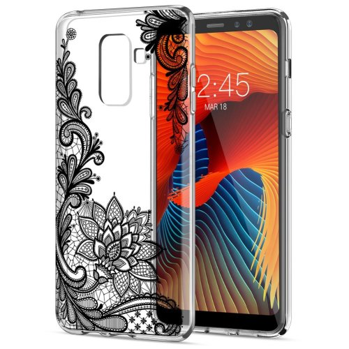 Samsung Galaxy A8 2018 Case, Eouine Ultra Slim Soft TPU Shockproof Protective Case Clear Pattern Bumper Silicone Gel Cover Skin for Samsung Galaxy... on ...
