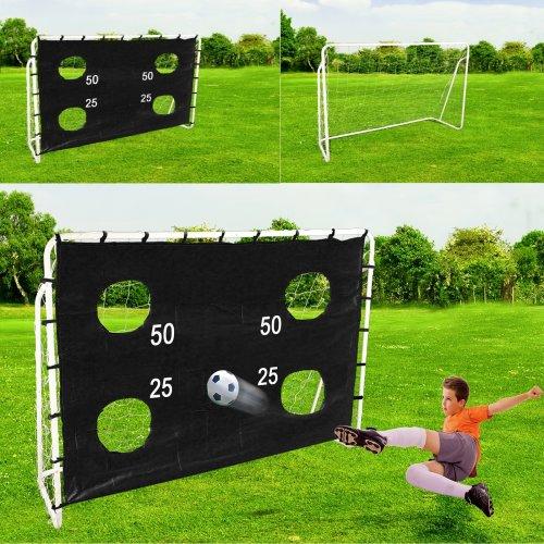 Football Soccer Goal Posts Net Target Sheet Set
