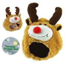 christmas festive Reindeer Hamster Bed sleep pouch