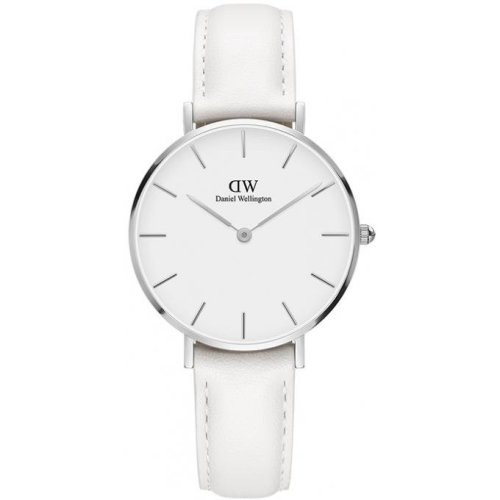 Daniel Wellington DW00100190 Leather Watch White Steel Argentae Female