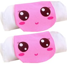 2 Lovely Pink Girl Cotton Gauze Towel Wipe Sweat Absorbent Cloth Mat Towels