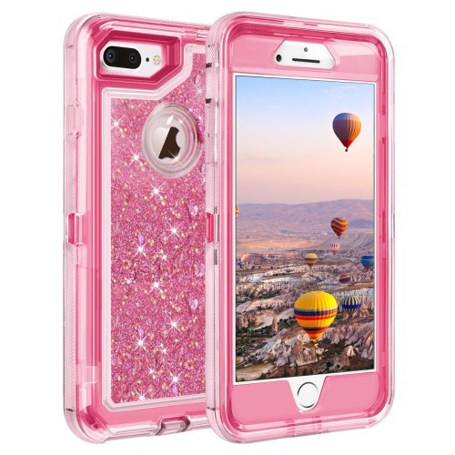 newest eefe2 10d7d Coolden iPhone 8 Plus Case, Heavy Duty Shockproof iPhone 7 Plus Case  Glitter Floating Bling Shiny Sparkle Quicksand Liquid Clear Bumper  Protective...