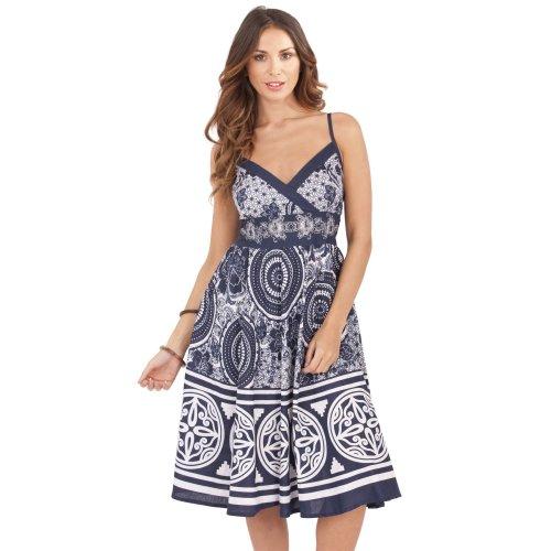 Pistachio | Cotton V-Neck Paisley Summer Dress