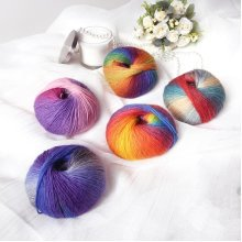 Wool Ball Rainbow Colorful Knitting Crochet Yarn