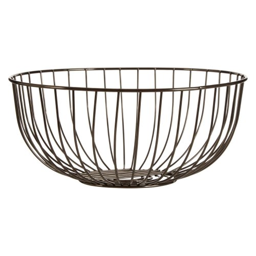 Traditional Style Fruit Basket Nickel Finish