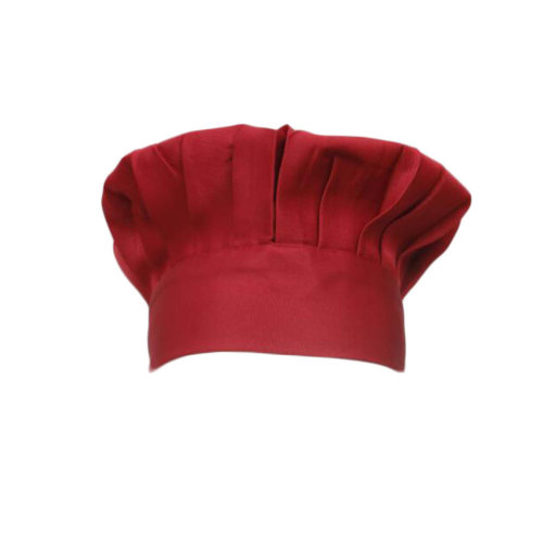 Adult Chef Hat with Elastic Band Baker Kitchen Cooking Chef Cap-Red