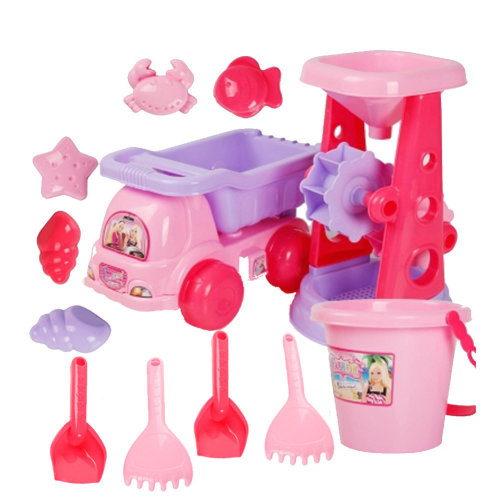 12 Piece Beach sand Toy Set, Bucket, Shovels, Rakes,Perfect for Holding Childrens' Toys#D