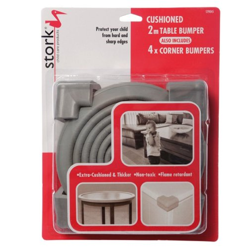 Stork Child Care 2m Foam Edge Bumper Roll & 4 Corner Cushions