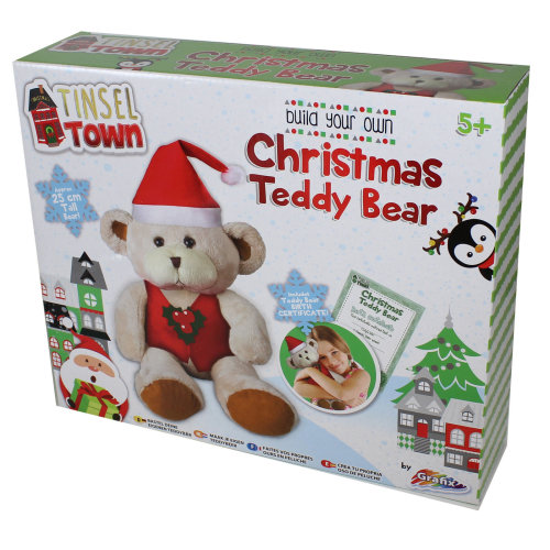 Tinsel Town Build your own Christmas Teddy Bear Soft Toy  Age 5+