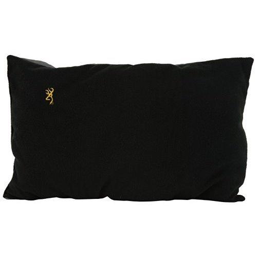 Browning Camping Black Fleece Pillow Gold