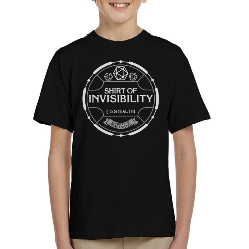 Shirt Of Invisibility Dungeons And Dragons Kid's T-Shirt