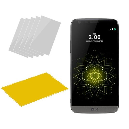 InventCase Screen Protector Guard with Cleaning Cloth for LG G5 2016 (5-Pack)