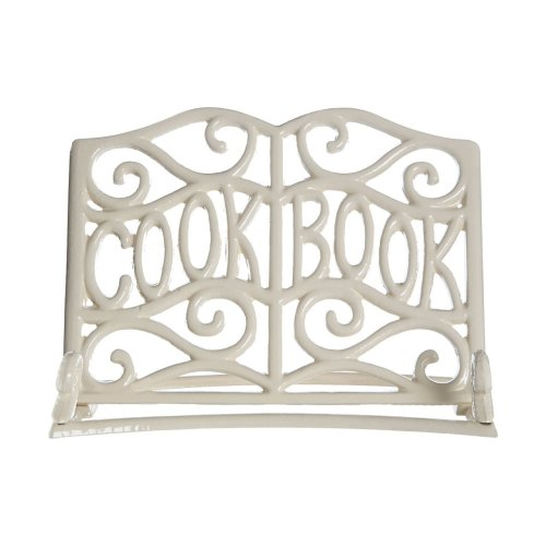Cast Iron Cookbook Stand - Cream