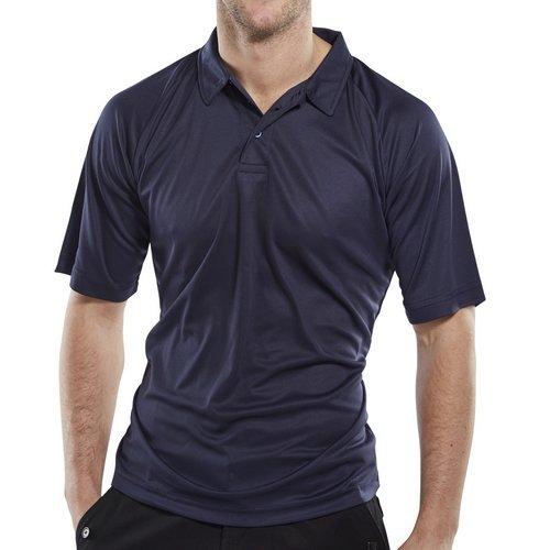 Click BCPKSN3XL Polo Shirt Moisture Absorbing Navy Blue 3XL