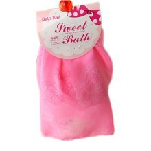 Set of 2 Organza Exfoliator Bath Ball Body Cleansing Scrubber/Chinese Rose