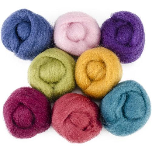"Wistyria Editions Wool Roving 12"" .25oz 8/Pkg-Designer"