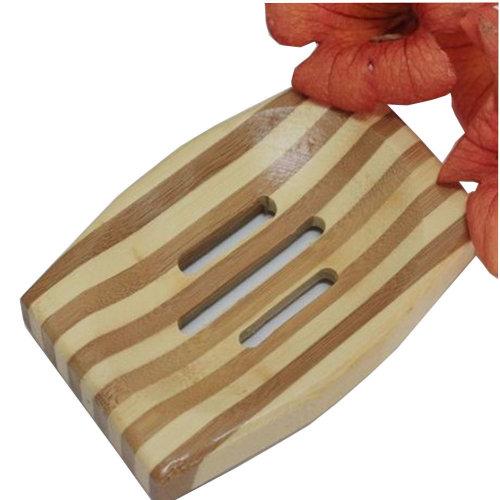 Quality Life Handmade Natural Wood Soap Dish/Stripe Soap Holder