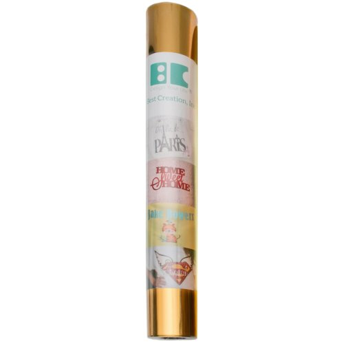 "Best Creation Metallic Iron-On Vinyl 12""X24"" Roll-Gold"