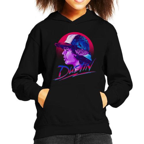 Dustin Montage Stranger Things Kid's Hooded Sweatshirt