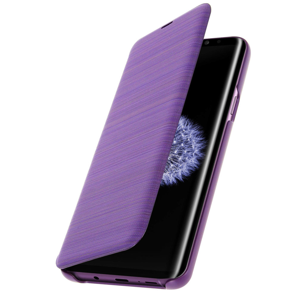 low priced cbed1 d8384 Official Samsung LED View Cover Case for Samsung Galaxy S9 Plus - Purple