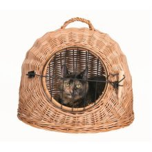 Trixie 2871 Cat Basket With Grid 50cm Diameter - 50cm Wicker -  basket cat trixie grid 2871 50 cm diameter wicker