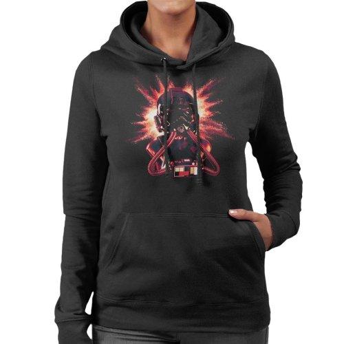 Original Stormtrooper Imperial Pilot TIE Helmet Explosion Women's Hooded Sweatshirt