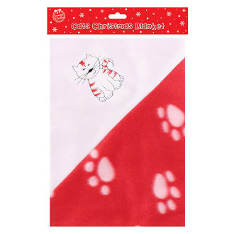 Christmas Shop Cute Cat/Dog Paw Print Pet Blanket