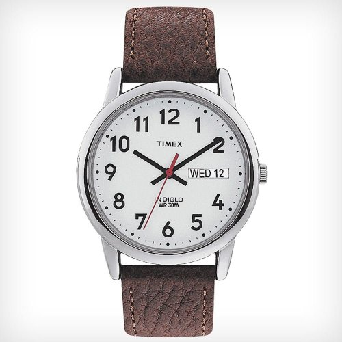 Timex T20041 Men's Leather Strap Analouge Watches