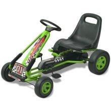 vidaXL Pedal Go Kart with Adjustable Seat Green