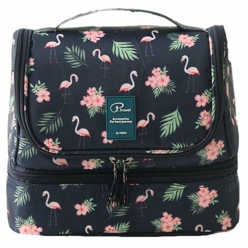cf211c2aaa56 MJFOX Toiletry Washer Bag, wash Bag Women Ladies Cosmetic Bag Flamingo  Makeup Bag Toiletry Bag for Hanging Beauty case Cosmetic Bag