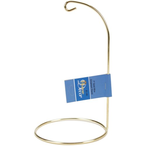 "Metal Ornament Stand 7""-Gold"