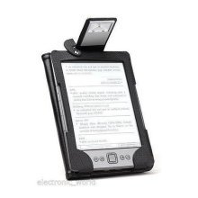 GENUINE PU LEATHER FOLIO CASE WITH READING LIGHT FOR NEW AMAZON KINDLE 4 READER